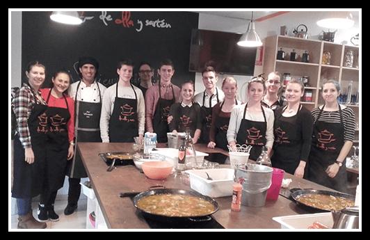Curso de cocina, nuestros estudiantes